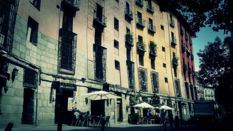 Madrid Downtown 05 stylized Stock Video Footage