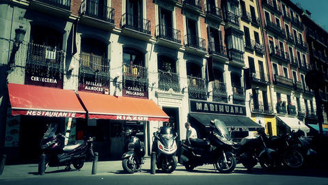Madrid Downtown 07 stylized Stock Video Footage