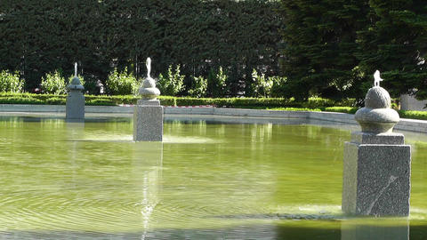 Madrid Jardines De Sabatini 01 Stock Video Footage