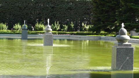 Madrid Jardines De Sabatini 01 Stock Video Footage