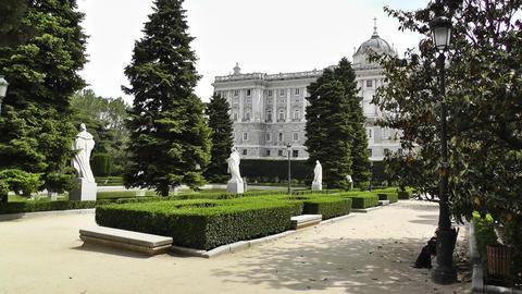 Madrid Jardines De Sabatini 03 Stock Video Footage