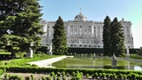 Madrid Jardines De Sabatini and The Palazzo Reale 01 Footage