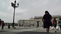 Madrid Jardines De Sabatini and The Palazzo Reale 01 Stock Video Footage