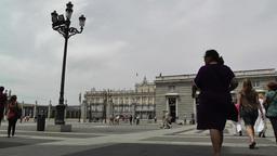 Madrid Jardines De Sabatini and The Palazzo Reale 01 Footage