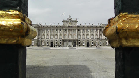 Madrid Palazzo Reale 03 Stock Video Footage