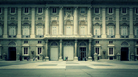 Madrid Palazzo Reale 07 stylized Stock Video Footage