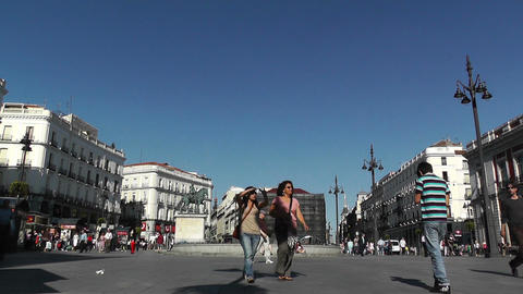 Madrid Plaza De La Puerta Del Sol 02 Stock Video Footage