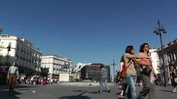 Madrid Plaza De La Puerta Del Sol 02 Stock Video Footage
