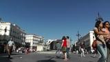 Madrid Plaza De La Puerta Del Sol 02 Footage