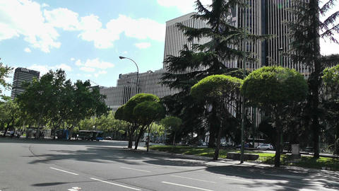 Madrid Plaza De Lima 01 Stock Video Footage