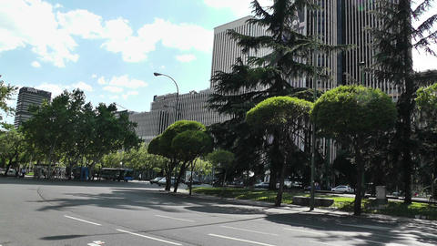 Madrid Plaza De Lima 01 Stock Video Footage