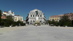 Madrid Plaza De Oriente 01 Stock Video Footage