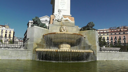 Madrid Plaza De Oriente 03 fountain Footage