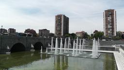 Madrid Puente De Segovia 01 Footage