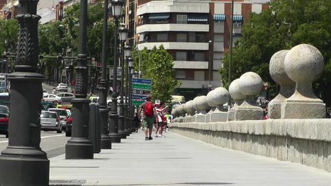 Madrid Puente De Segovia 03 Stock Video Footage