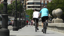 Madrid Puente De Segovia 03 Footage