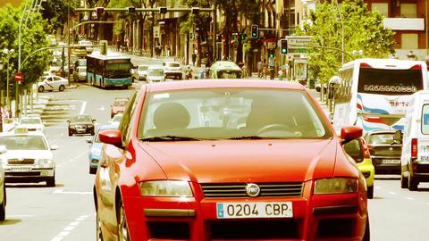 Madrid Puente De Segovia 07 stylized Stock Video Footage