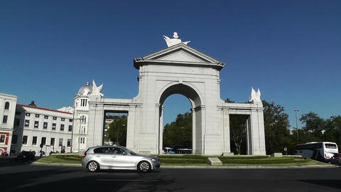 Madrid Puerta De San Vicente 02 Stock Video Footage