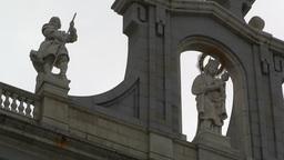 Madrid Santa Maria Almudena 05 lowangle Stock Video Footage