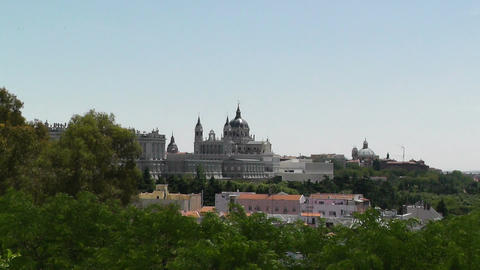 Madrid Santa Maria Almudena 08 zoom Stock Video Footage