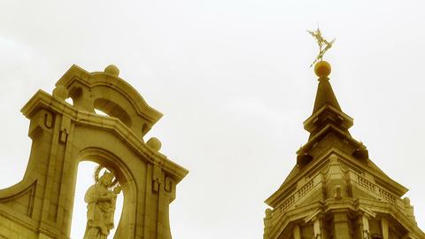 Madrid Santa Maria Almudena 10 lowangle stylized Stock Video Footage