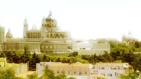 Madrid Santa Maria Almudena 12 stylized Stock Video Footage