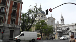 Madrid Santa Maria Almudena Calle De Bailen and Calle Mayor 02 Footage