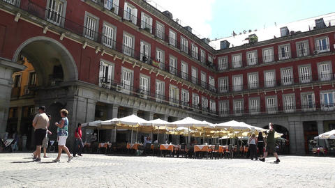 Plaza Mayor De Madrid 01 Stock Video Footage