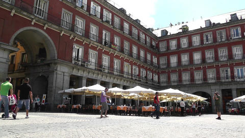 Plaza Mayor De Madrid 01 Footage