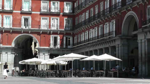 Plaza Mayor De Madrid 03 Stock Video Footage