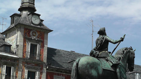 Plaza Mayor De Madrid 05 Stock Video Footage