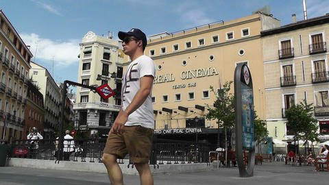 Real Cinema Madrid 01 Stock Video Footage