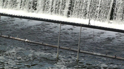 Small Dam on River Stock Video Footage