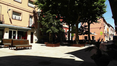 Small Town Street in Spain 06 Catalonia Stock Video Footage