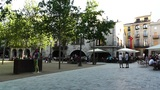 Square in Small Town in Spain 06 Catalonia Footage
