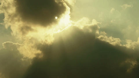 High clouds cover sun sky,sunny Stock Video Footage
