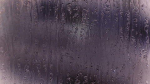 Water droplets on windows,Grilles,ice Stock Video Footage