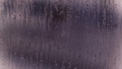 Water droplets on windows,Grilles,ice Footage