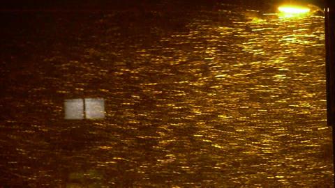 Snow drift under lamp,window,particle Art Stock Video Footage