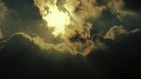 High Clouds Cover Sun Sky,sunny stock footage