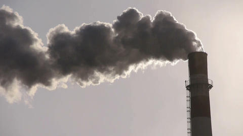 fumes billow from industry chimney,energy generation pipe... Stock Video Footage