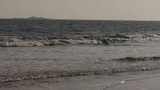 waves on sandy beach,white surge Footage