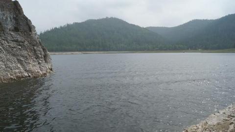 Krasnoyarsk Reservoir Biryusa Bay (pan left) Footage