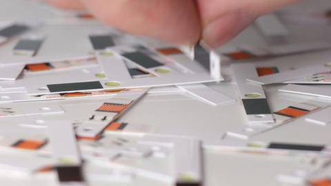 Sequence: Test strip for measuring of blood sugar Stock Video Footage