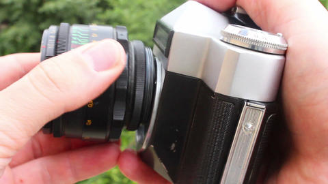 Old camera 5 Stock Video Footage