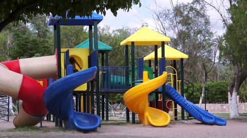 Children on Jungle Gym Time Lapse Stock Video Footage