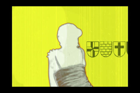 Yellow Film Dancer Stock Video Footage