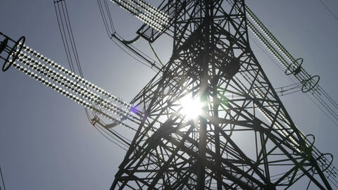 power pylons close up Stock Video Footage