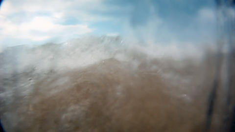 Waves on coast Stock Video Footage
