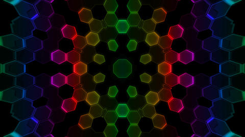 Kaleidoscope Hex 2 Cb 1 HD Stock Video Footage